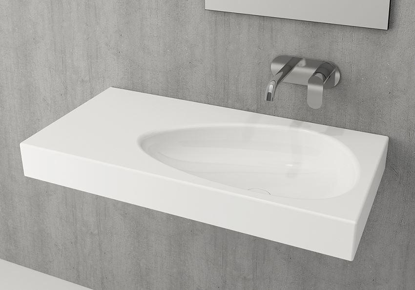 Umywalka ścienna/meblowa/nablatowa Glossy White Bocchi Etna
