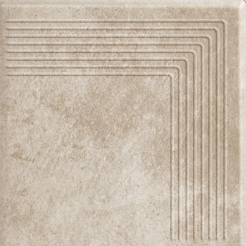 Płytka stopnicowa 30x30 cm Paradyż Viano Beige Stopnica Narożna