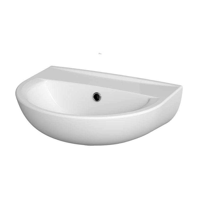 Umywalka wisząca 45 cm bez otworu Cersanit President