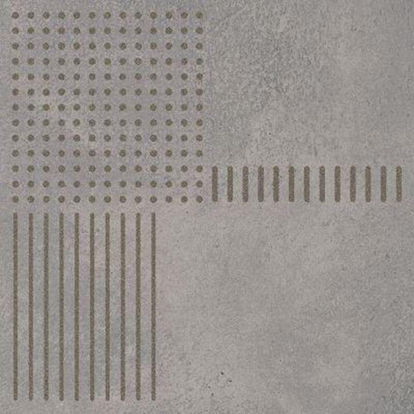 Dekor podłogowy 29,8x29,8 cm Paradyż Space Grafit Inserto A Mat