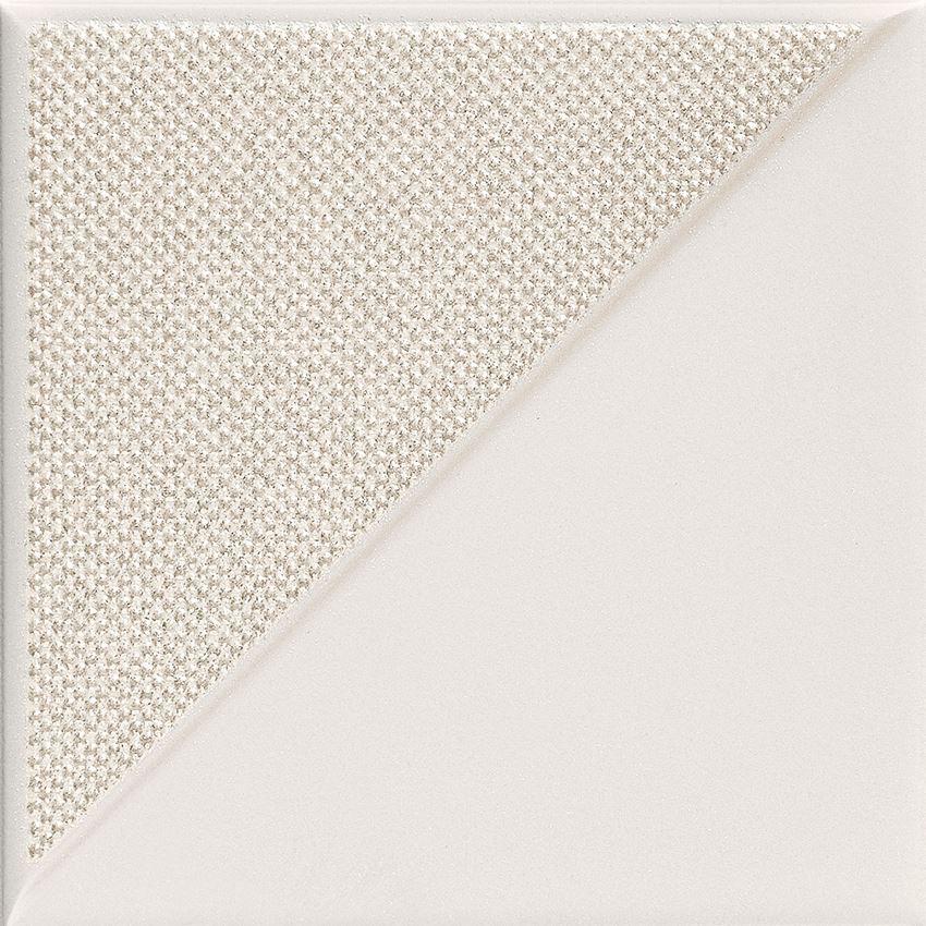 Dekor ścienny 14,8x14,8 cm Tubądzin Reflecion white 2