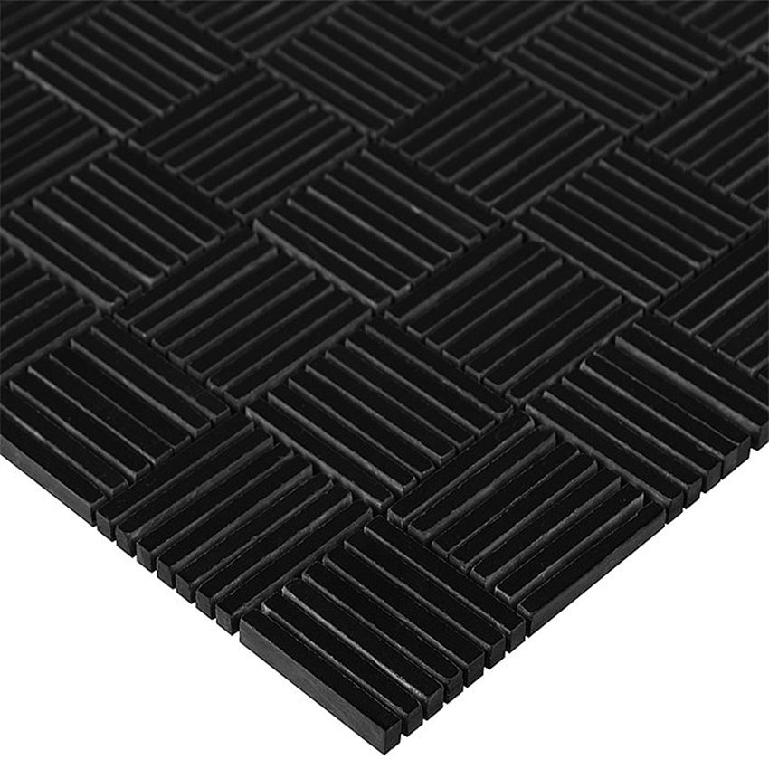 Mozaika 31x30,5 cm Dunin Black&White Pure Black Tatami 48g
