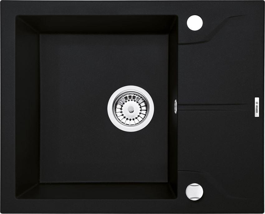 Zlewozmywak 1-komorowy z krótkim ociekaczem czarny Deante Andante