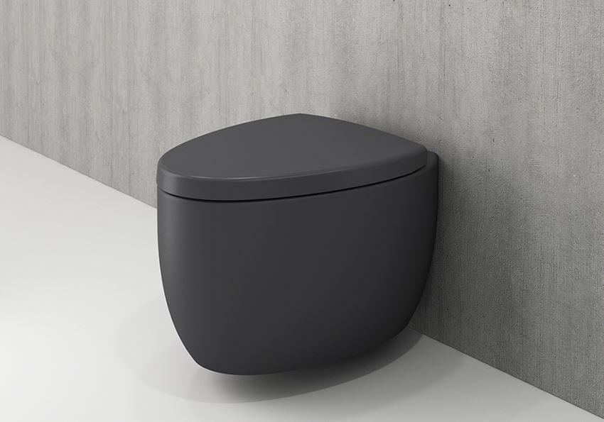 Miska WC wisząca bez deski Matt Anthracite Bocchi Etna