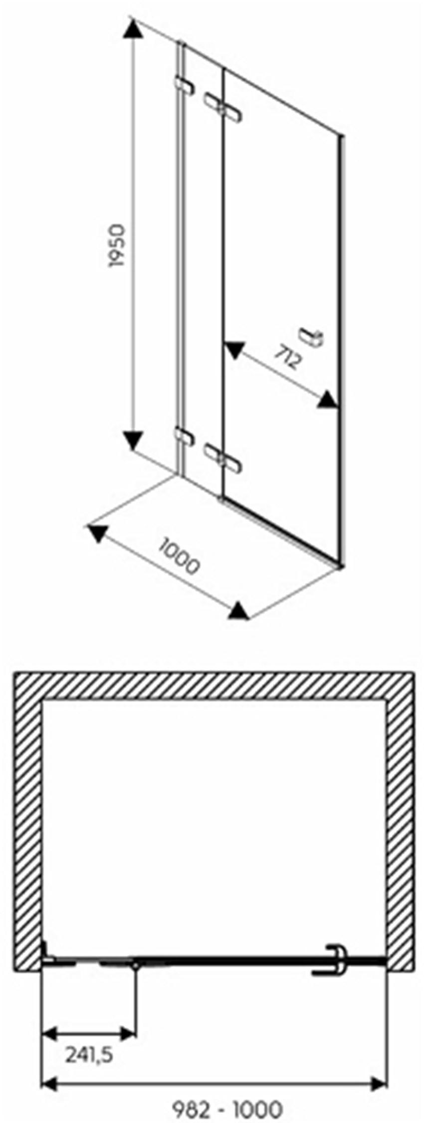 Drzwi lewostronne 100x195 cm Koło Next