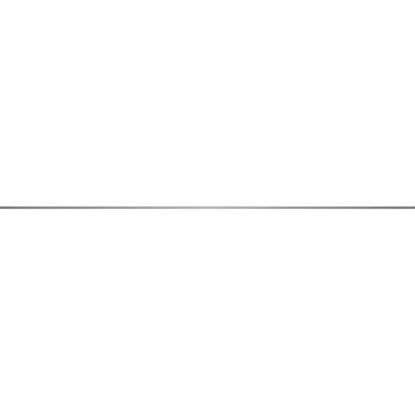 Listwa 1x119,8 cm Opoczno Metal Silver Glossy Border