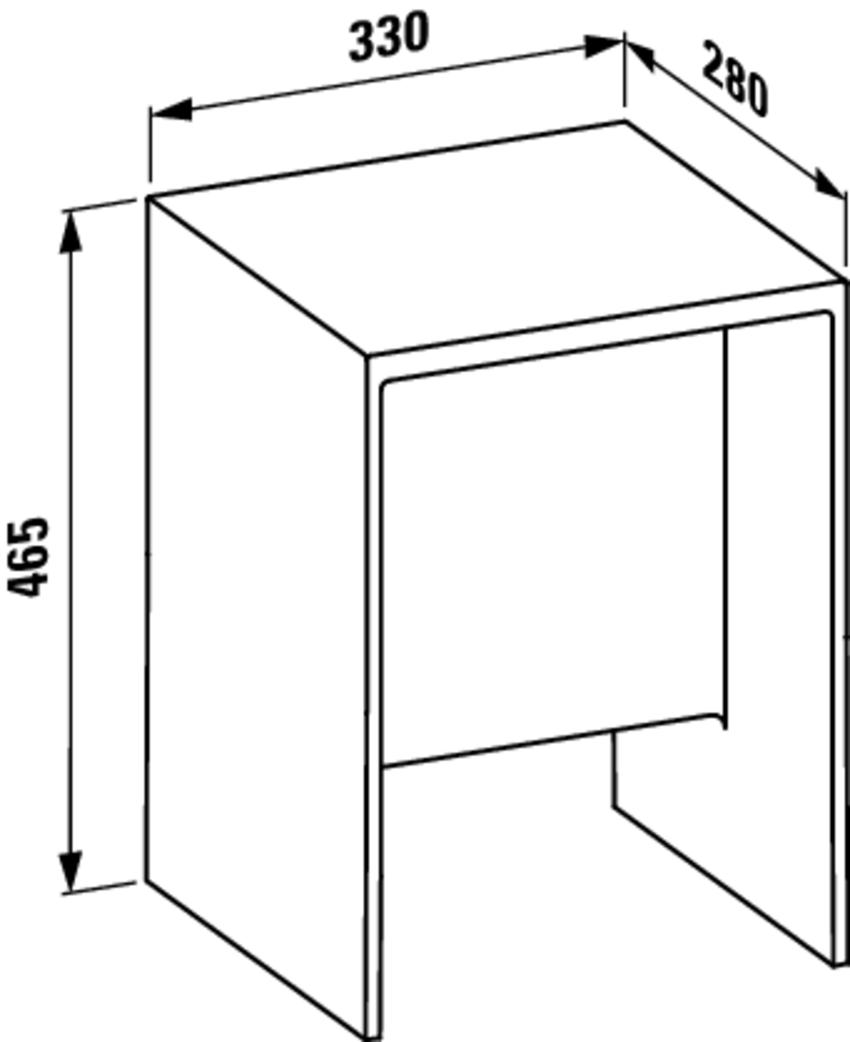 Taboret Laufen Kartell rysunek techniczny