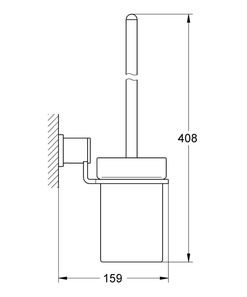 Szczotka toaletowa Grohe Allure rysunek techniczny
