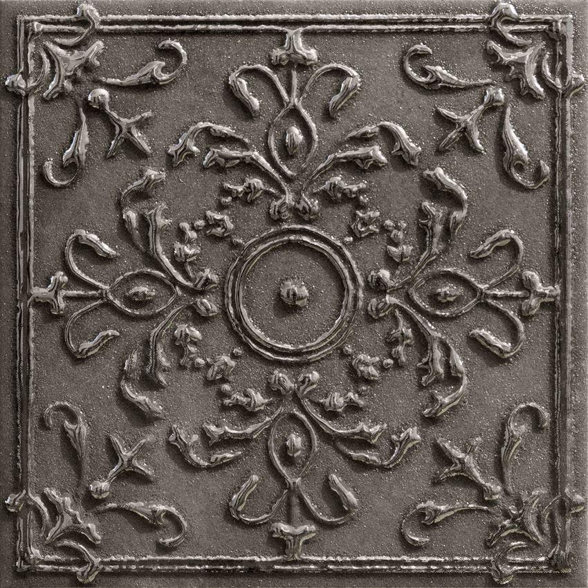 Dekor ścienny 8 różnych wzorów pakowanych losowo 14,8x14,8 cm Tubądzin Tinta Platinum