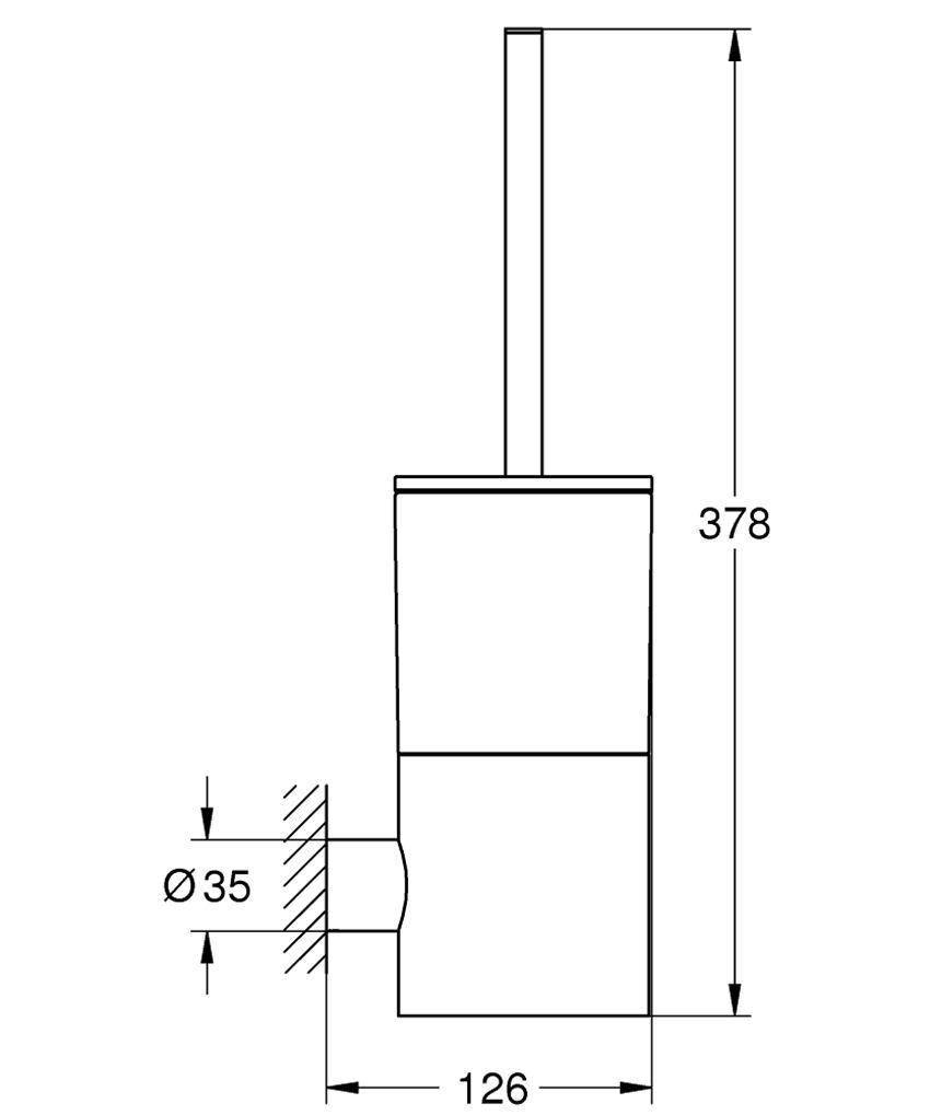 Szczotka toaletowa chrom Grohe Atrio techniczny