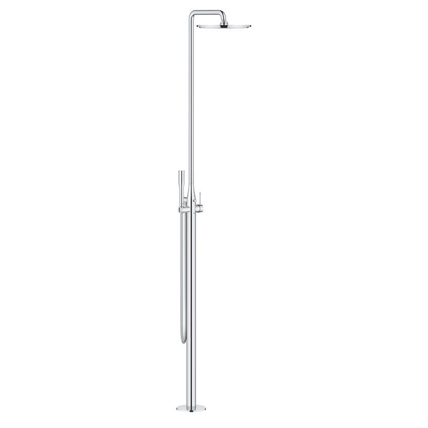 Wolnostojący system prysznicowy chrom Grohe Essence