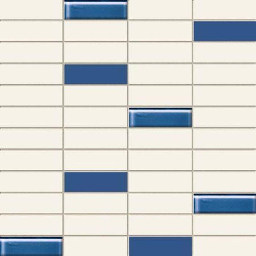 Mozaika ścienna Domino Joy Wave Niebieska Glass