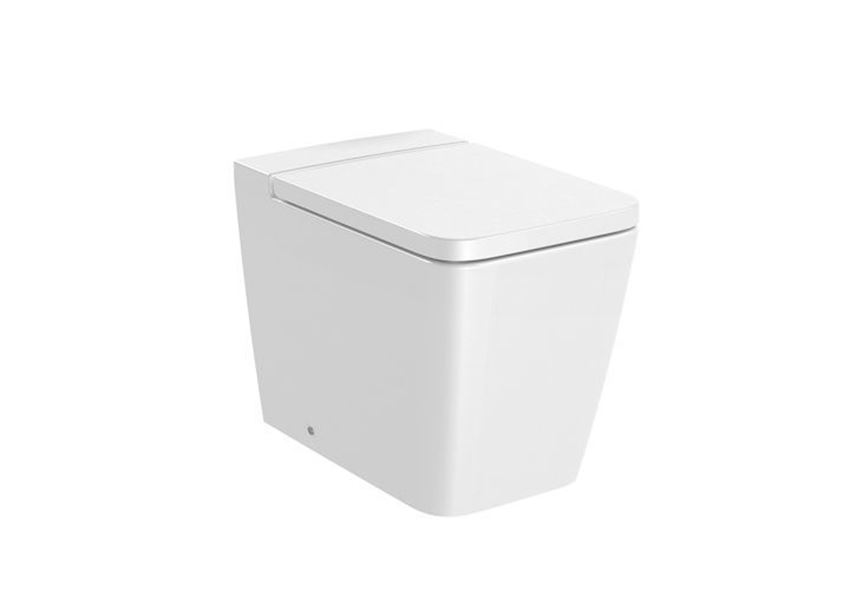 Miska WC stojąca Square Rimless 36x56x40 cm Roca Inspira