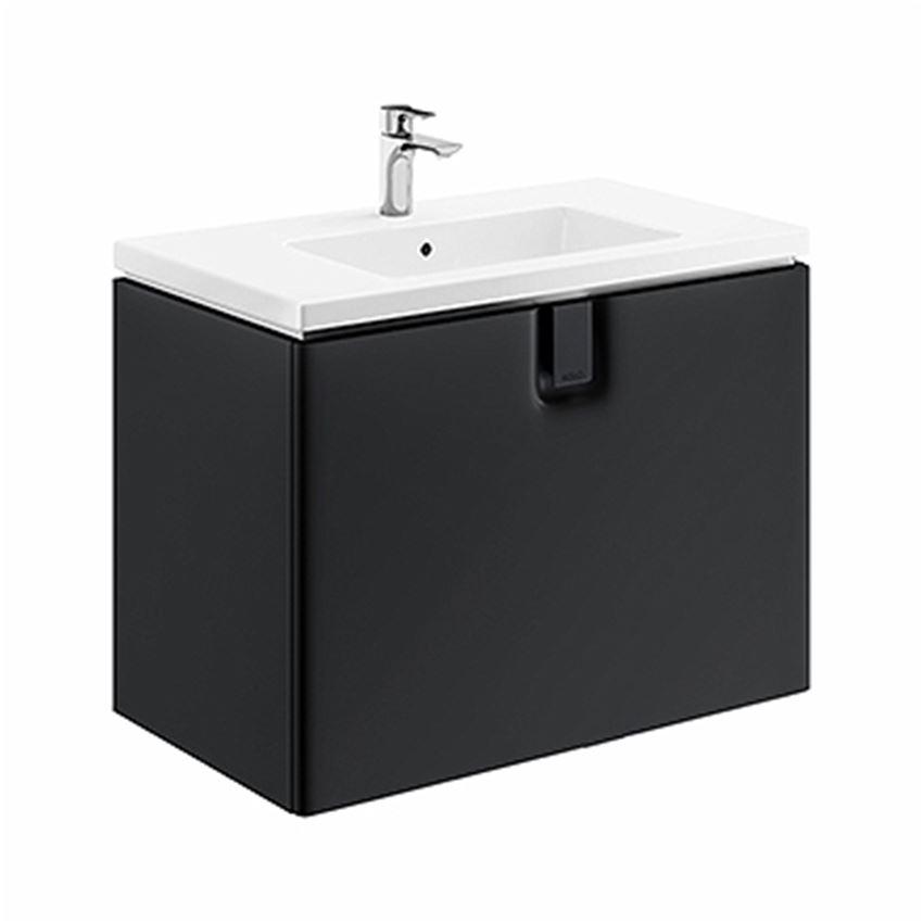 Szafka pod umywalkę 80x57x46 cm czarna Koło Twins