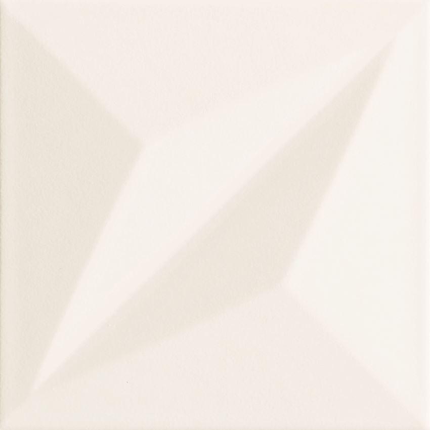 Płytka ścienna 14,8x14,8 cm Tubądzin Colour White STR 1