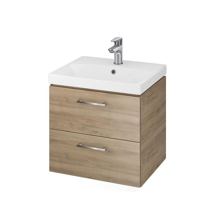 szafka z umywalką Cersanit Lara City 50 Orzech S801-155-DSM