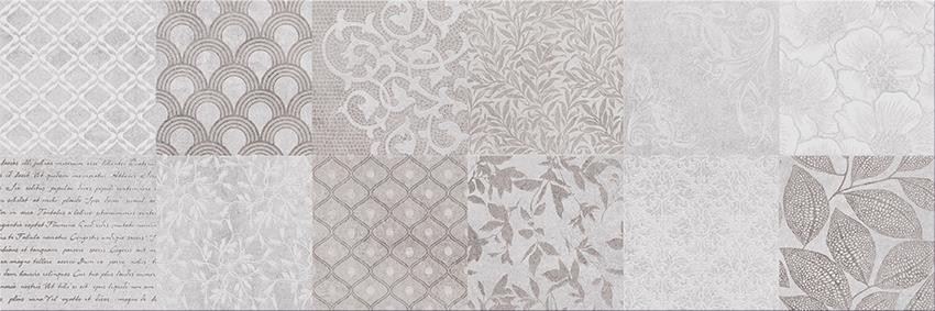 Płytka dekoracyjn, 29,7x60 cm Cersanit Snowdrops patchwork