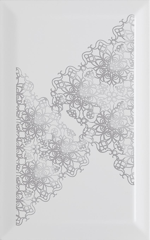 Dekoracja ścienna 25x40 cm Paradyż Veo Grys Inserto Kafel Koronka