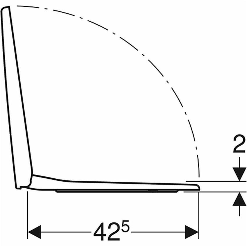 Deska sedesowa prostokątna Koło Nova Pro rysunek