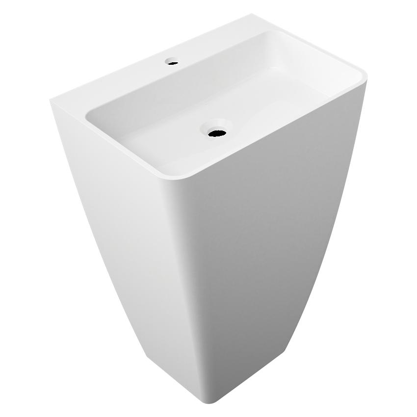 Umywalka biała 55x43x85 cm Omnires Marble+