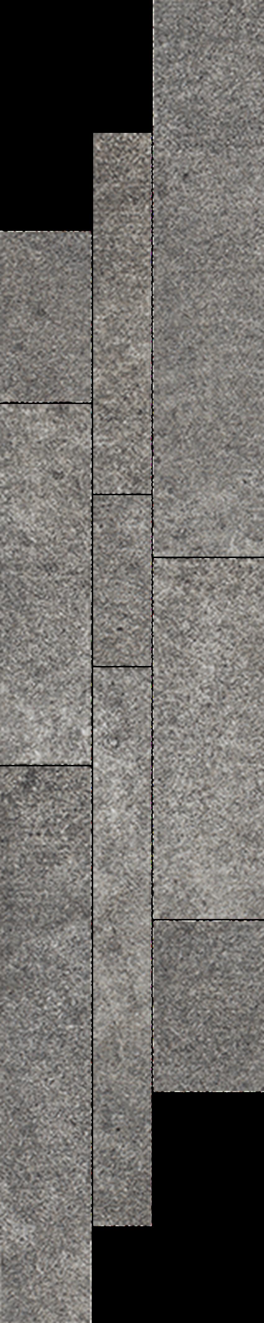 Listwa 14,3x71 cm Paradyż Riversand Grafit Listwa Mix Paski