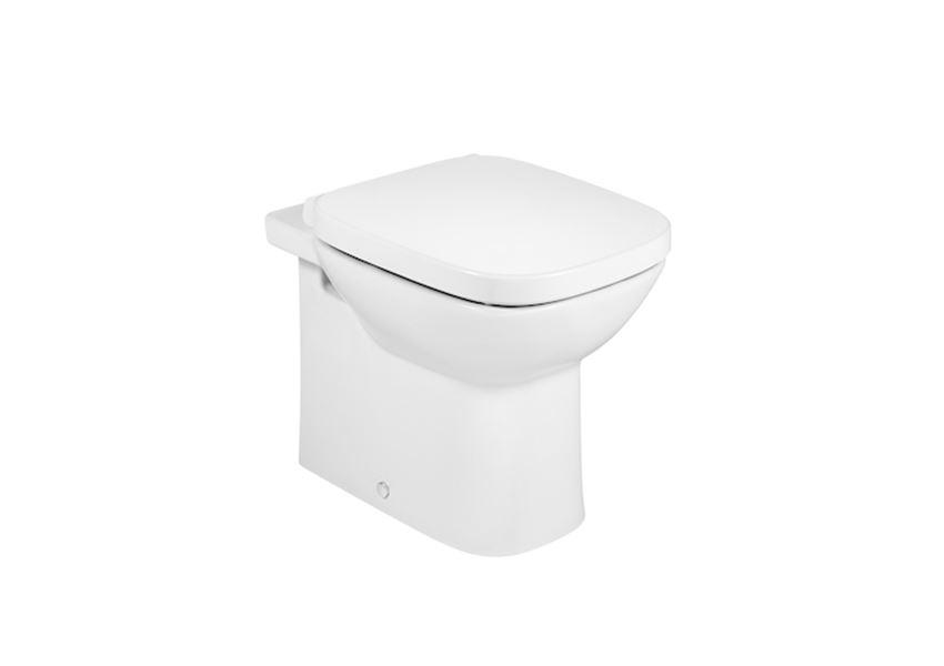 Miska WC stojąca odpływ podwójny montaż przyścienny Roca Debba