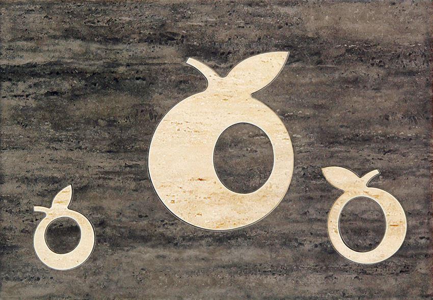 Dekor ścienny 36x25 cm Domino Toscana brąz Apple