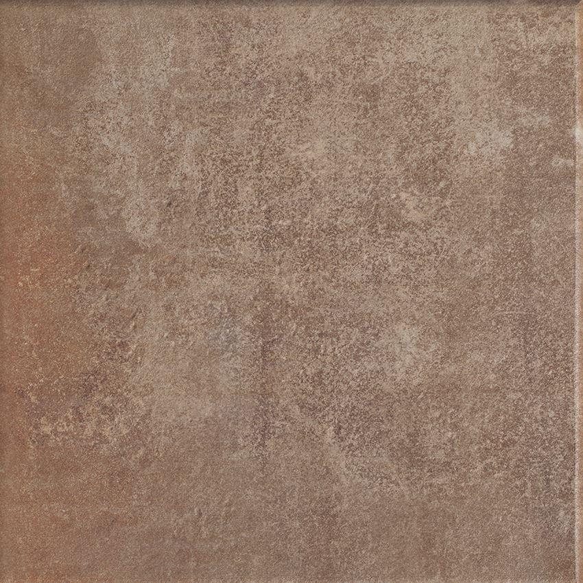 Płytka stopnicowa 33x33 cm Paradyż Scandiano Rosso Kapinos Stopnica Narożna