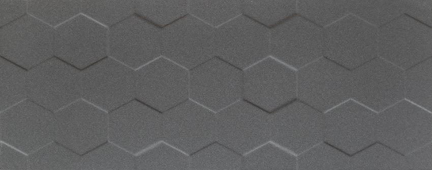 Płytka ścienna 74,8x29,8 cm Tubądzin Elementary graphite hex STR
