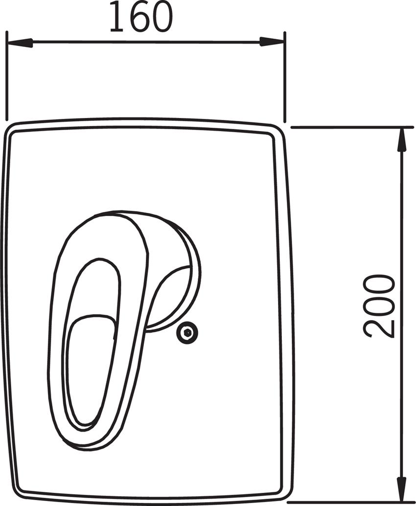 Element natynkowy Oras Safira 1087 rys. techniczny