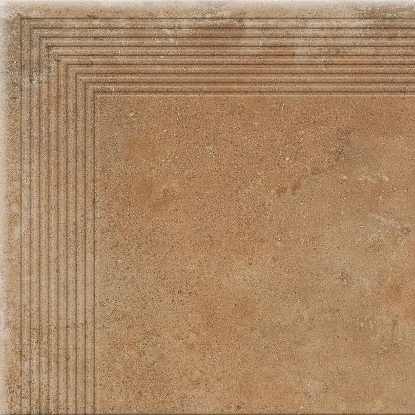 Płytka stopnicowa narożna 30x30 cm Cerrad Piatto honey