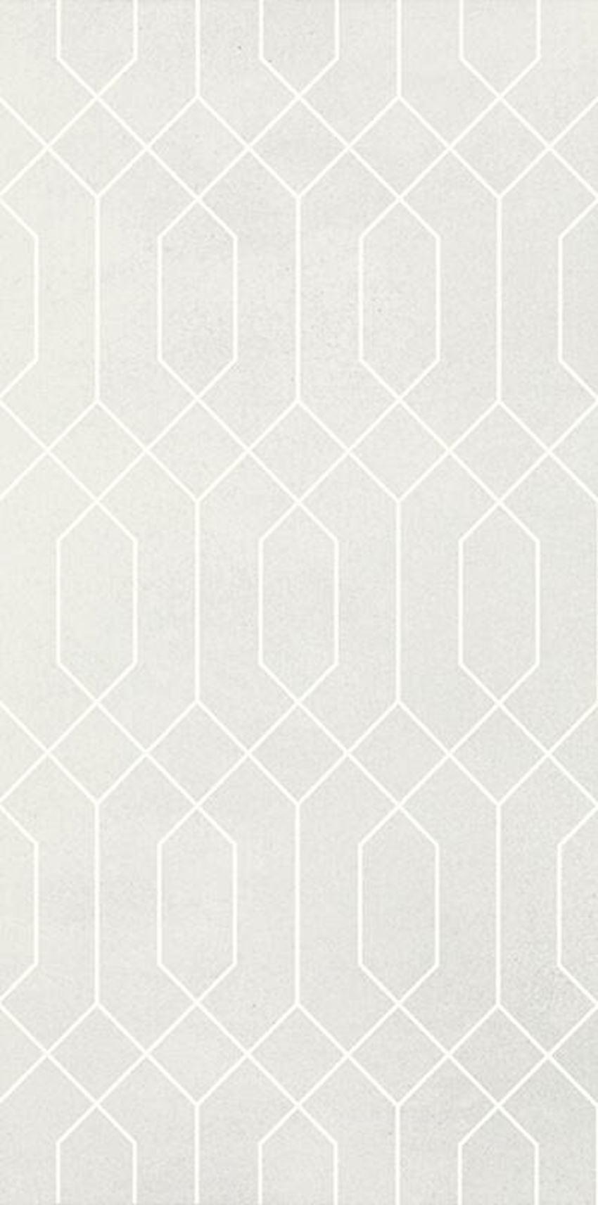 Płytka ścienna 29,5x59,5 cm Paradyż Taiga Silver Ściana Rekt. Dekor