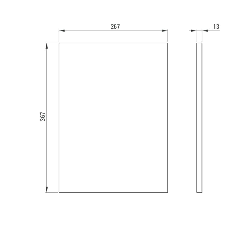 Półka do konsoli 16,7x36,7 cm Deante Correo rysunek