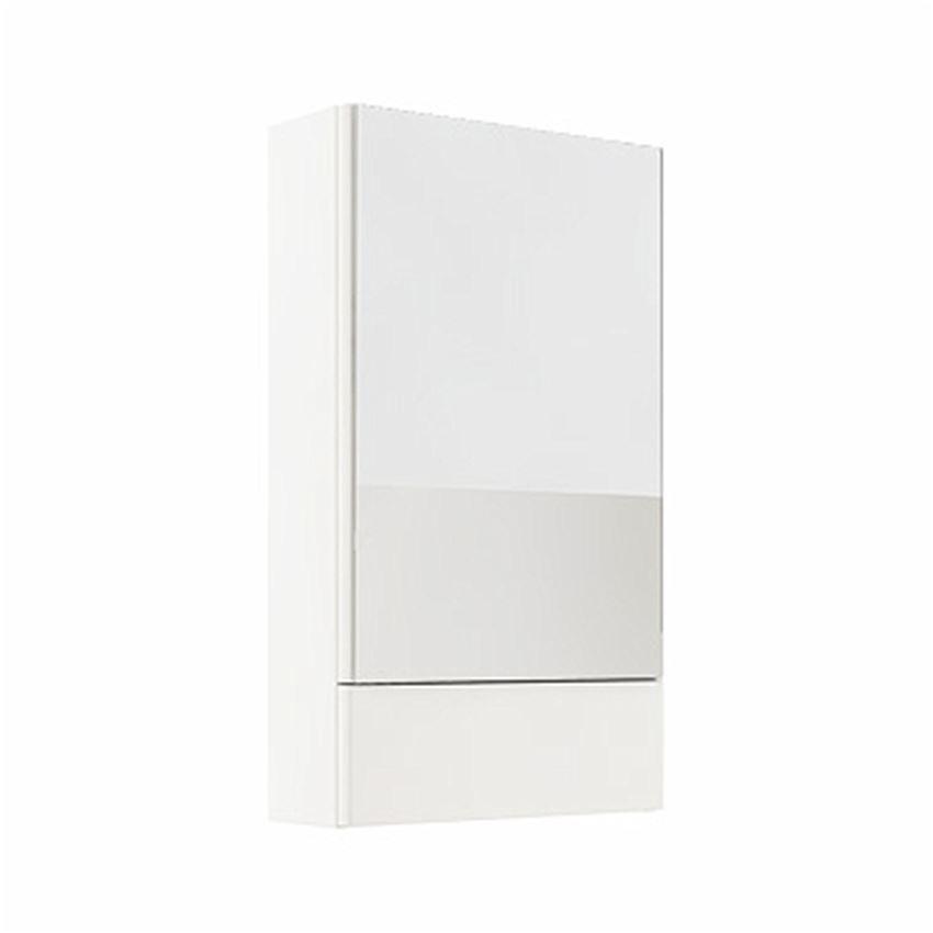 Szafka wisząca z lustrem 49,3x85x17,6 cm biały połysk Koło Nova Pro