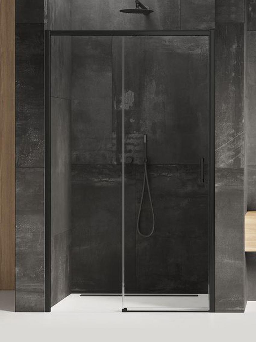 Drzwi prysznicowe przesuwne New Trendy Prime Black