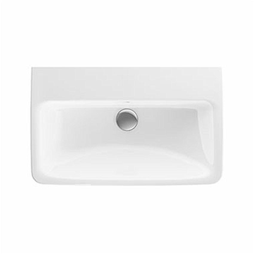 Umywalka prostokątna krótka bez otworu z przelewem 65 cm Koło Nova Pro