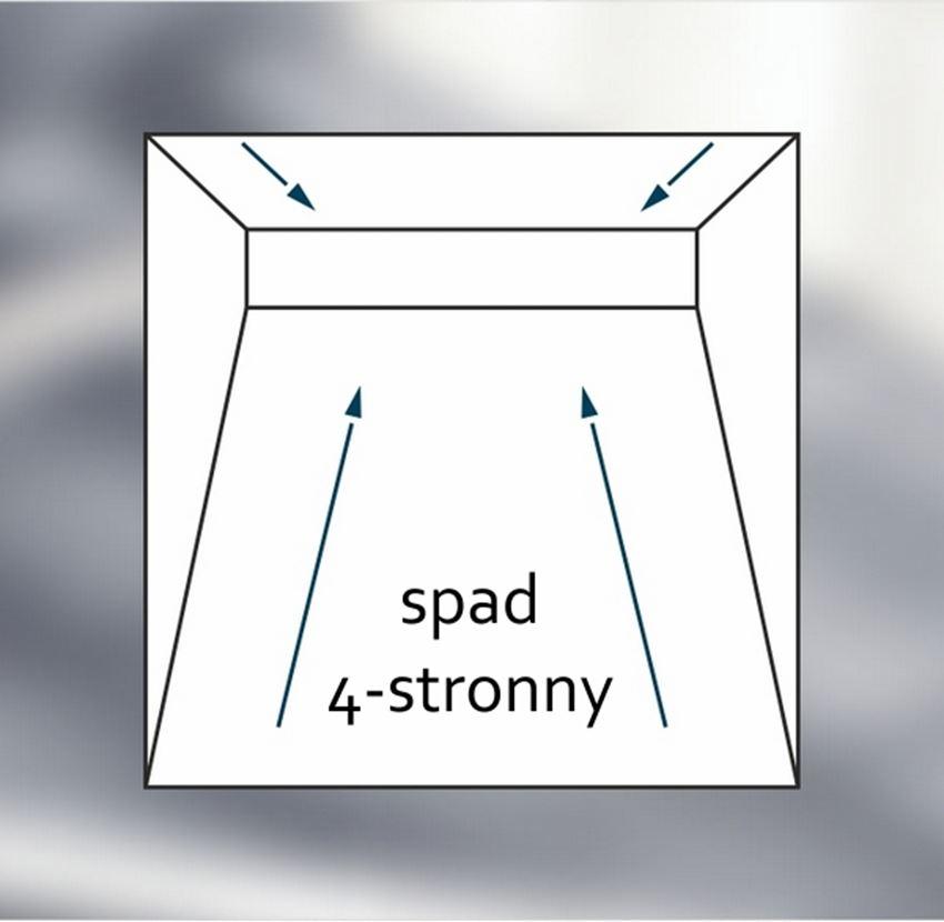 Brodzik prostokątny Schedpol Shortline rysunek techniczny