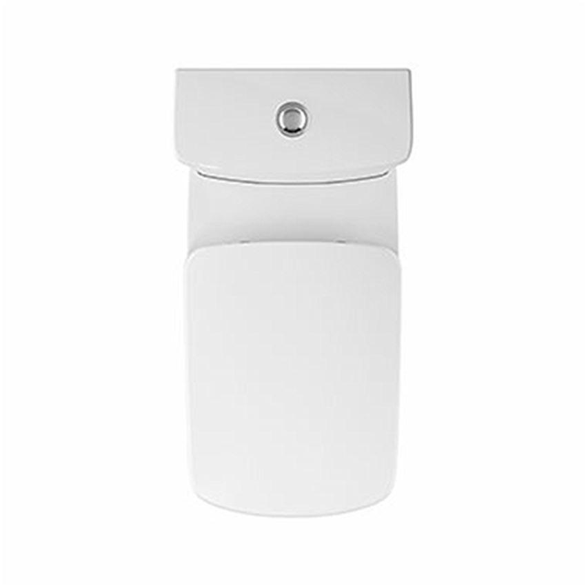 Miska kompaktowa prostokątna Rimfree przylegająca do ściany bez deski Koło Nova Pro Premium