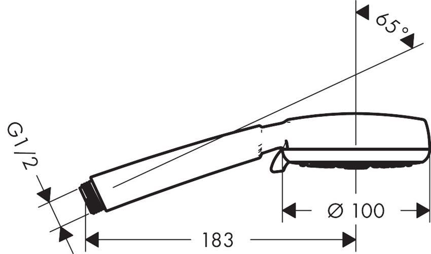 Główka prysznicowa Vario Hansgrohe Crometta 100 rysunek