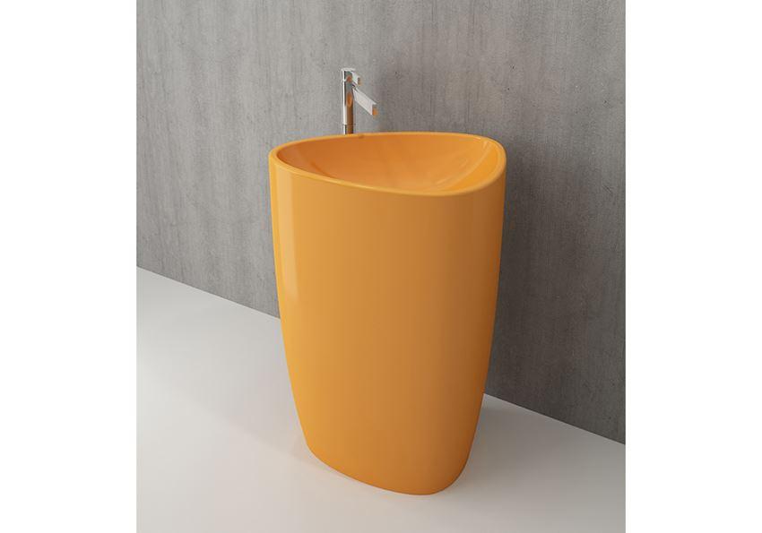 Umywalka wolnostojąca monoblok Glossy Tangerine Bocchi Etna