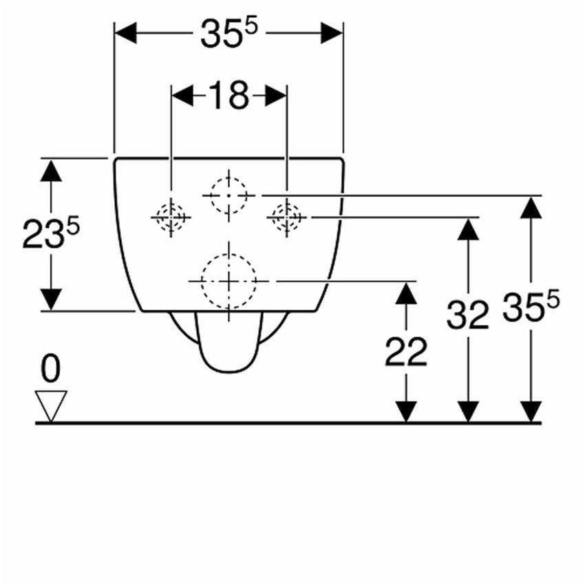 Zestaw Miska WC z deską 53x35,5 cm Koło Modo rysunek