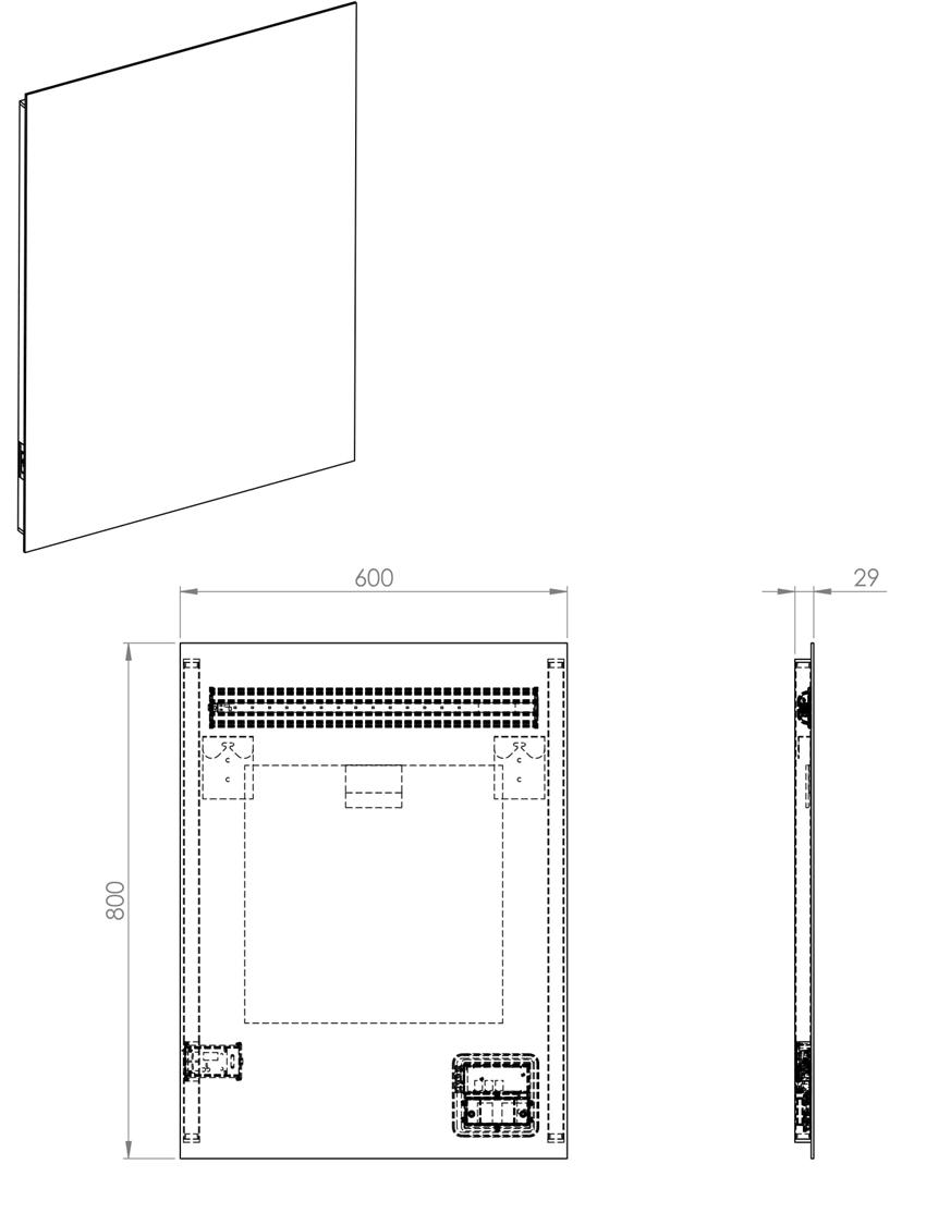 Lustro LED Lina 60x80x2,9 cm Elita rysunek