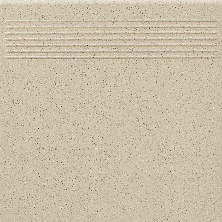 Płytka podłogowa 30x30 cm  Paradyż Bazo Beige Stopnica Prosta Gres Sól-pieprz Mat
