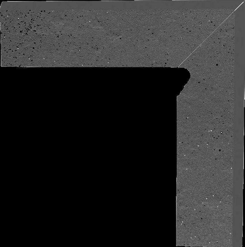 Płytka cokołowa 8,1x30 cm  Paradyż Semir Grafit Cokół 2 El.-Prawy