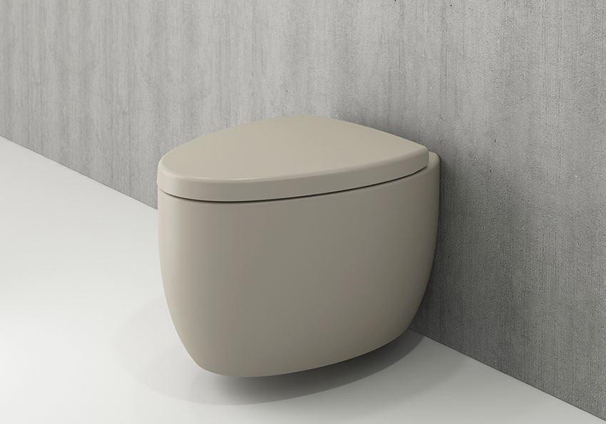 Miska WC wisząca bez deski Matt Cashmere Bocchi Etna