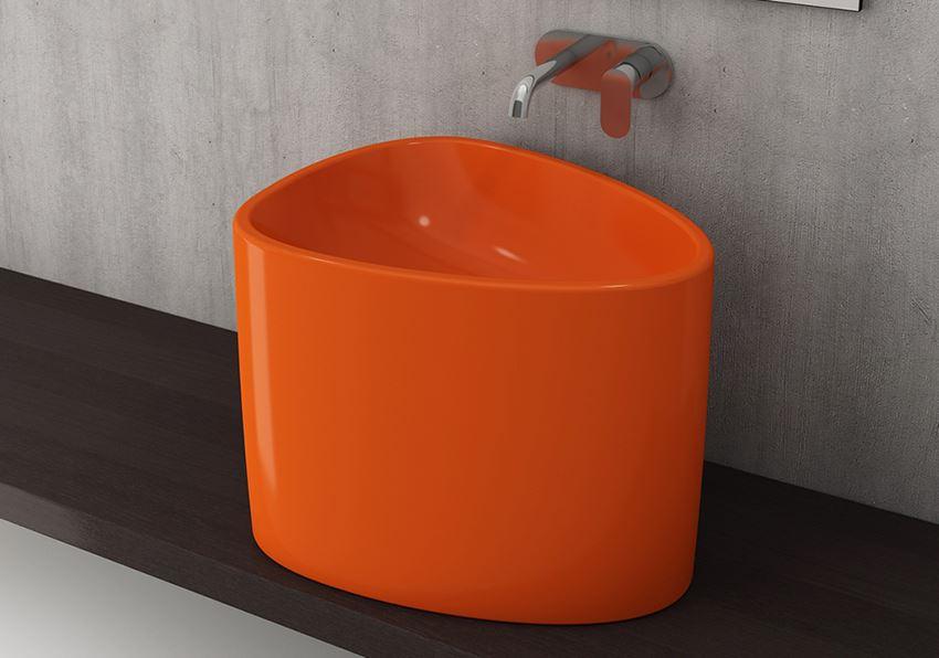 Umywalka nablatowa Glossy Orange Bocchi Etna
