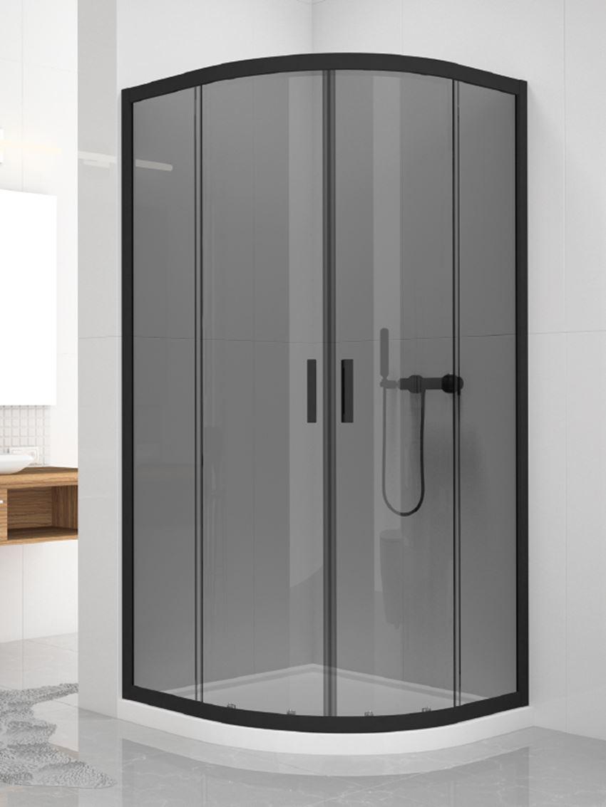 Kabina prysznicowa półokrągła New Trendy New Varia Black