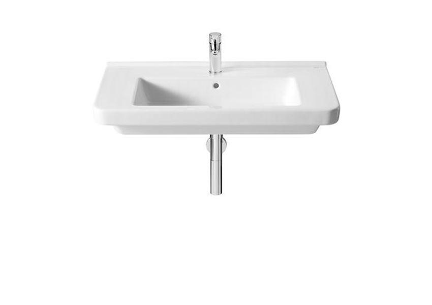 Biała umywalka ścienna 85x46x14,5 cm Roca Dama-N