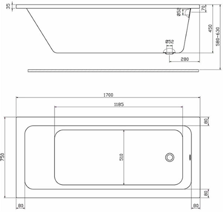 Rysunek techniczny Koło Modo XWP1170101