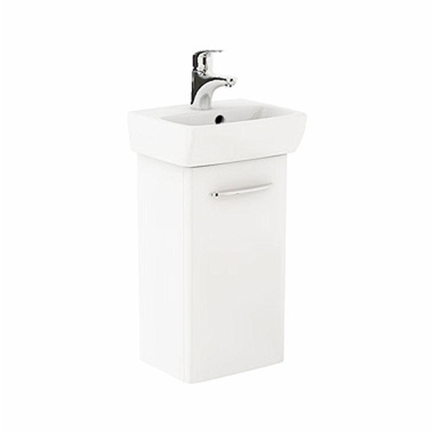 Szafka z umywalką 36 cm biały połysk Koło Nova Pro